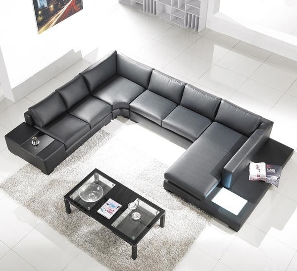Modern Black Leather Sectional Living Room Furniture TOS-LF-2066 : black and white leather sectional - Sectionals, Sofas & Couches