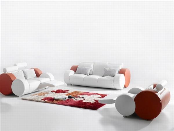 ultra modern italian leather sofa set cp 7804
