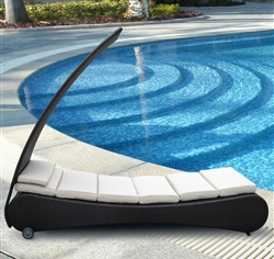 Modern Outdoor Chaise Lounge with Canopy & Modern Outdoor Chaise Lounge with Canopy TOS-GW3087-L1