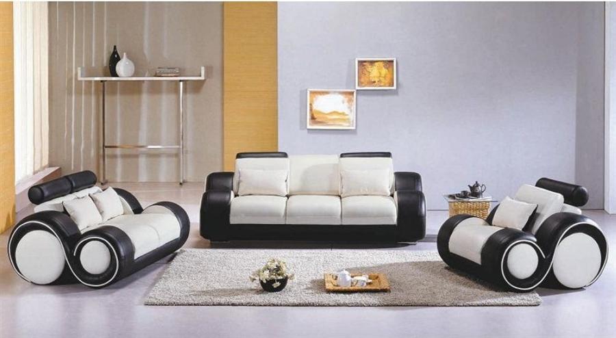 Peachy Modern Black And White Sofa Set Tos Lf 4088 Whiteblack Lher Inzonedesignstudio Interior Chair Design Inzonedesignstudiocom