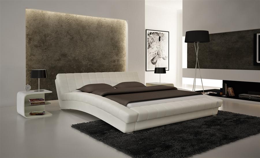 Chobham White HD Contemporary Platform Bed CP B1112 WH