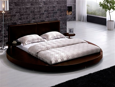 round bed headboard modern brown leather headboard bed tos t009 br q 30228